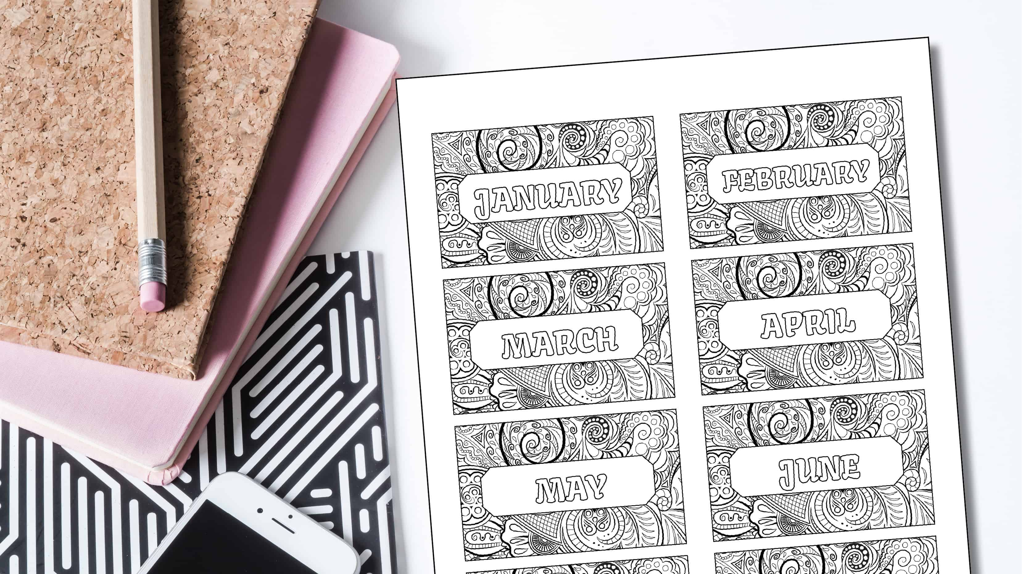 It is a graphic of Free Printable Coloring Bookmarks with cute
