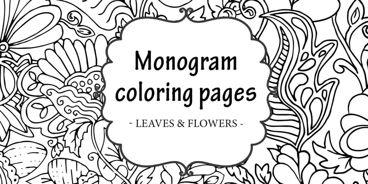 photograph relating to Free Printable Monogram identify Free of charge Printable Monogram Coloring Web pages - My Printable Household