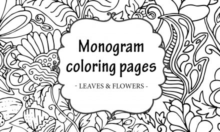 FREE Printable Monogram Coloring Pages