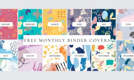 FREE Printable Monthly Binder Covers