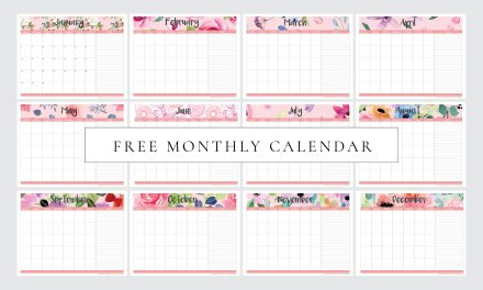 FREE Printable Monthly Planner Calendar (Undated)