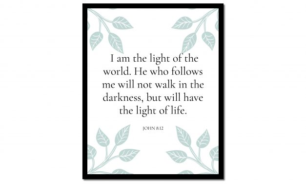 I Am the Light of the World – John 8:12 (Scripture Wall Art)