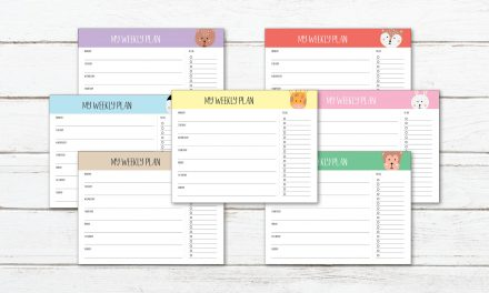 7 FREE Animal Printable Weekly Planners