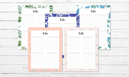 20 FREE Printable To Do Lists To Get Organised