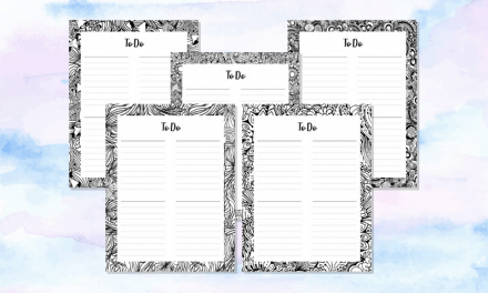 11 FREE Printable To Do Lists That You Can Color In