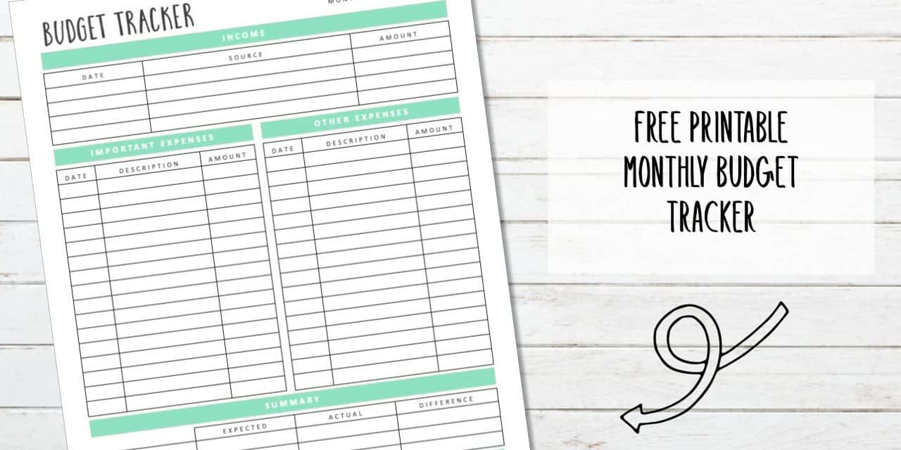 Monthly Budget Tracker