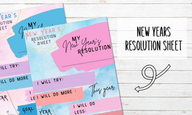 New Year Resolution Sheet