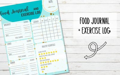 Printable Food Journal and Exercise Log