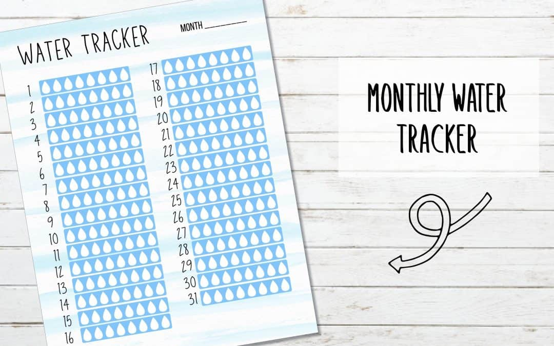 Printable Monthly Water Tracker