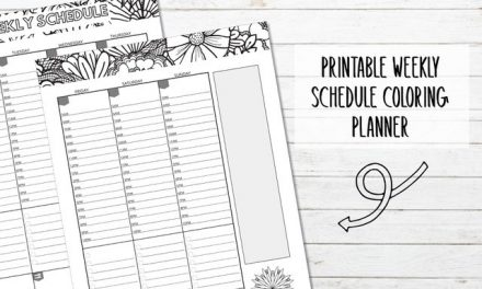 Printable Weekly Schedule Coloring Pages