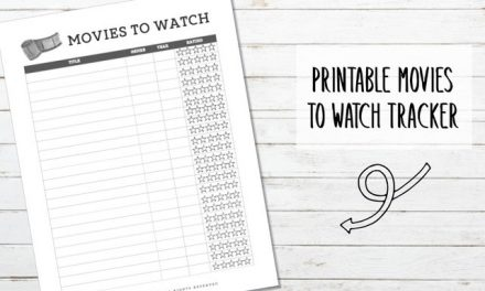 Printable Movies to Watch Tracker