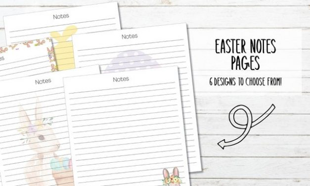 Printable Easter Note Pages