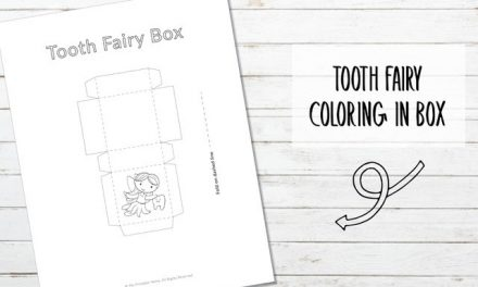 Printable Tooth Fairy Box to Color In