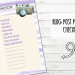 Free Printable Blog Post Promotion Check List