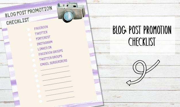 Free Printable Blog Post Promotion Check List