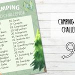 Free Printable Camping Photo Challenge
