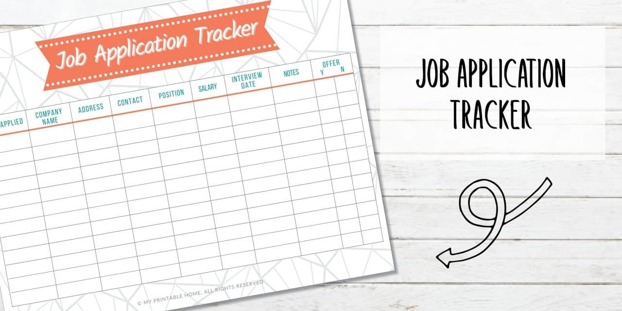 Free Printable Job Application Tracker