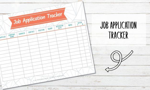 Free Printable Job Application Tracker