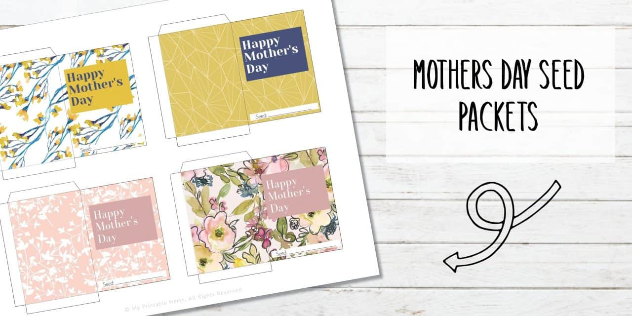 Printable Mother's Day Seed Packets
