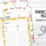 12 Printable Recipe Planner Pages