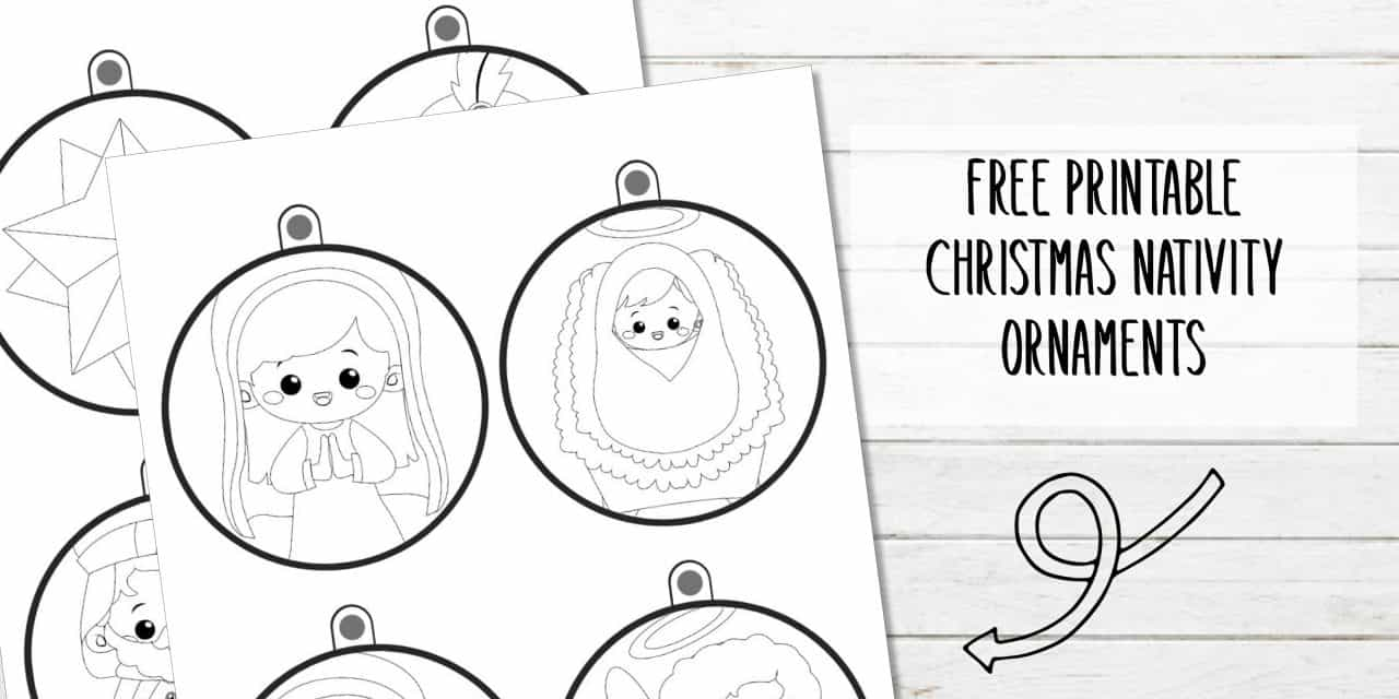 Printable Nativity Ornaments (Coloring Activity)