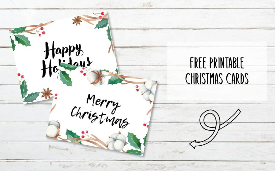 Printable Christmas Cards